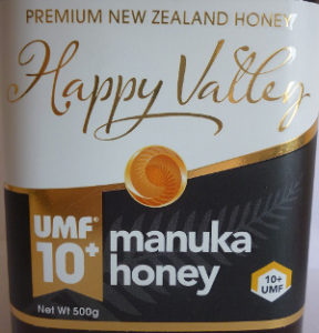 Happy Valley UMF 10+ Manuka Honey Label